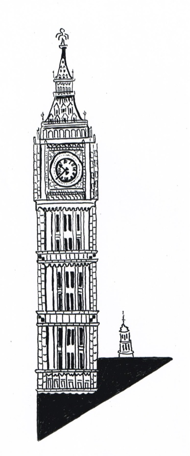 London Clock Drawing London s iconic clock tower London Clock Tower Drawing