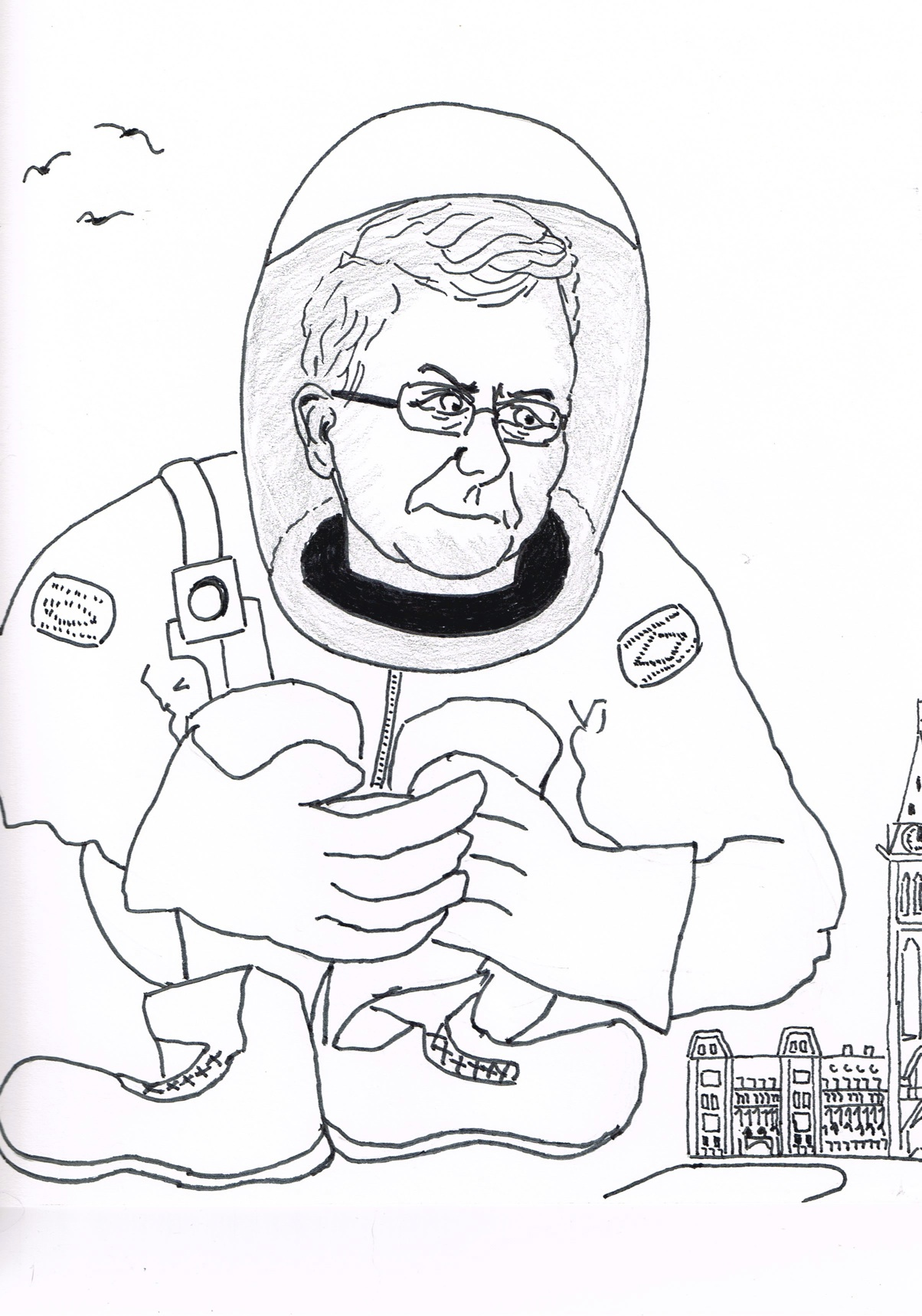 Former Canadian astronaut's dreams of becoming the next Liberal Leader likely will come to naught as Trudeau signs up 150,000 supporters