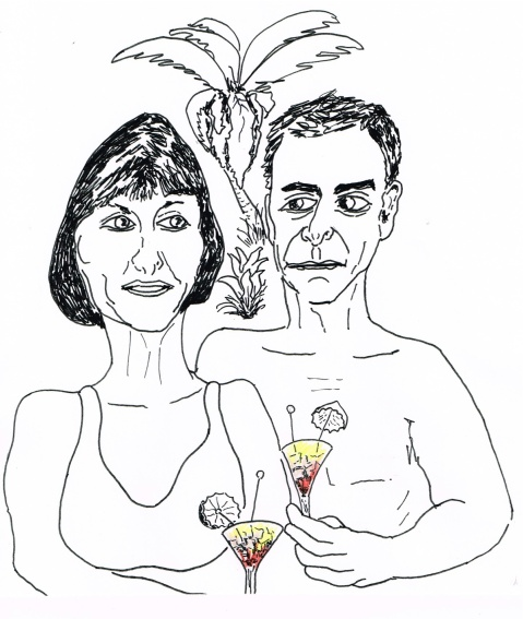 Lawyer Tony Merchant and wife Senator Pana relax in their Tax Haven in the Cook Islands