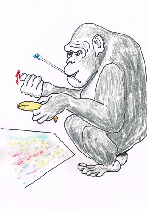 US Laboratory Chimp wins $10,000 grand prize for painting created with his tongue