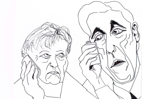 """Angela, John Kerry speaking. I hear, [ from listening in on your phone conversations, of course], that you are upset."""