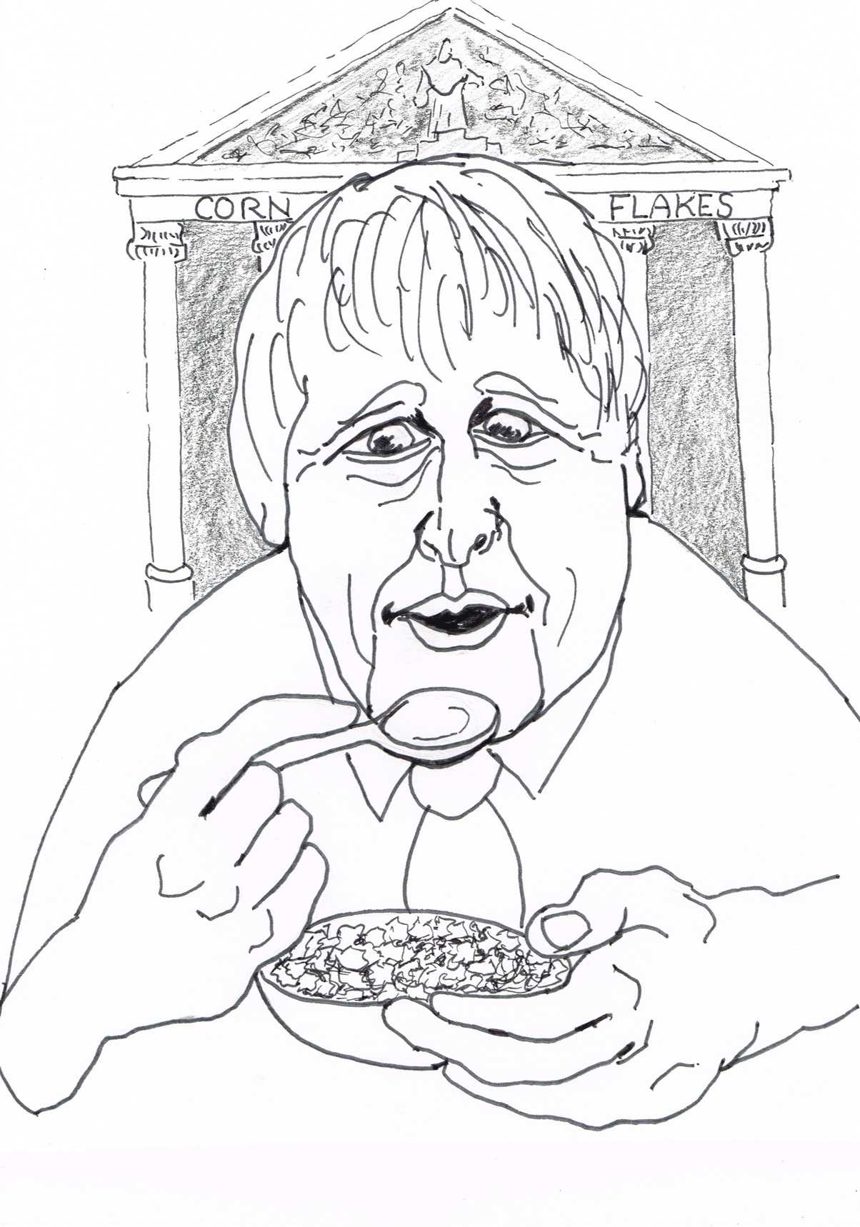 """London Mayor Boris proclaims that the """"cornflakes"""" with high IQs are bound to rise to the top when you """"shake the box""""in a lecture at the Thatcher"""