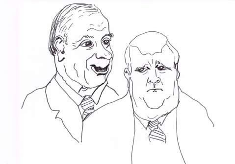 Senator Irving Gerstein, Mayor Rob Ford: both refuse to resign.