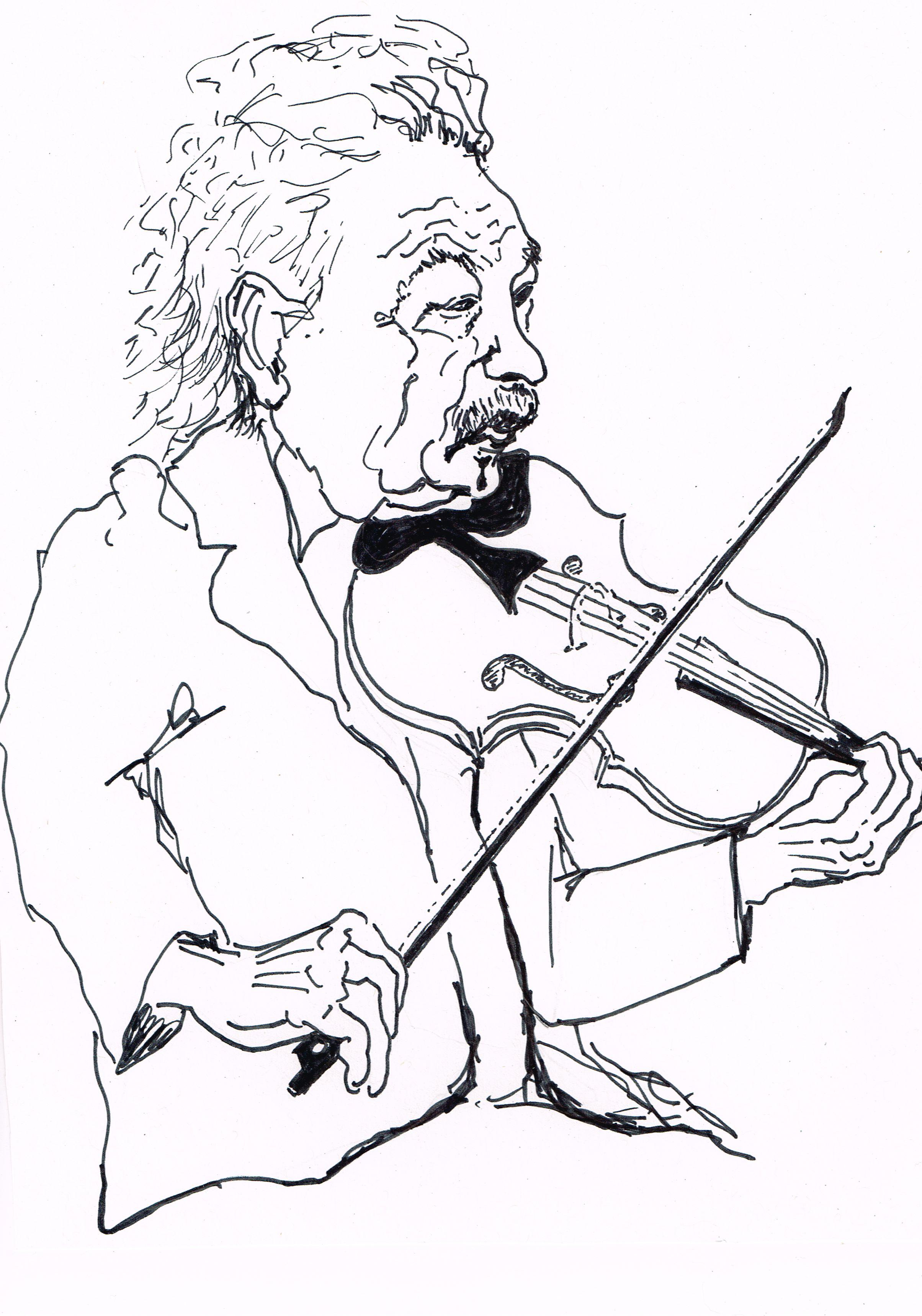 """Albert Einstein, born March 14th, 1879, plays """"Opus 135"""""""