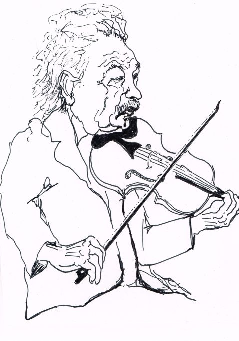 "Albert Einstein, born March 14th, 1879, plays ""Opus 135"""