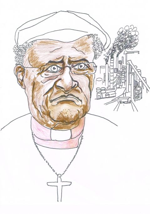 "Archbishop Desmond Tutu,  travelled to Fort McMurray and added his voice to the growing international opposition to Alberta oilsands  development, calling the industry ""filth"".   [but he didn't cycle there from South Africa]"