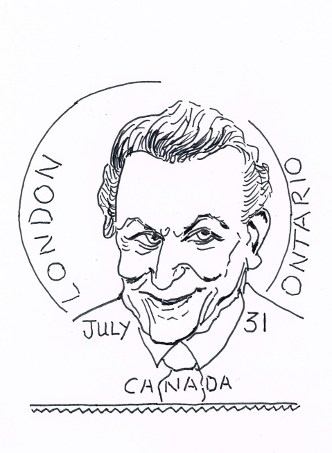 "Canada Post has honoured county musician Tommy Hunter, [ironically creator of the hit song: ""The Great Mail Robbery""],  with a commemorative stamp."