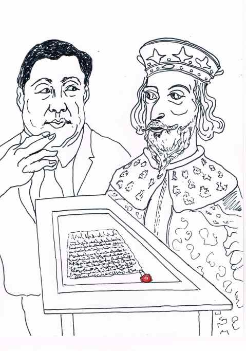 The 800 year old Magna Carta on loan to Beijing university was deemed too sensitive for public display and removed to the less accessible residence of the British ambassador.