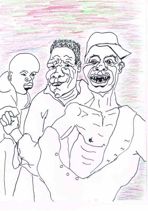 Things turn ugly at the Mister Ugly competition,Zimbabwe.