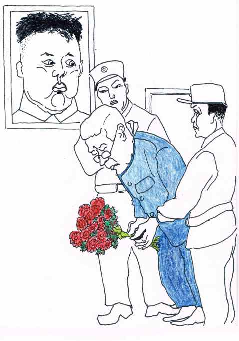 Kimjongilia,a hybrid Begonia designed to bloom each year on the 'Dear Leader's birthday,February 16.