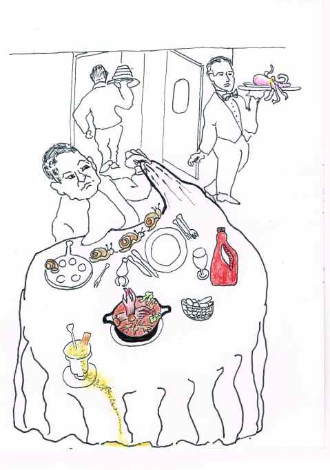 Prix Fixe: Roaming snails [Escargots ta-ta],Confeet,Speech Slurry,Cuppagrappa.Bon appetit.