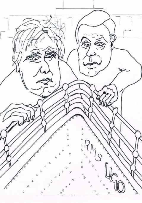 Farrago: Boris Johnson and Nigel Farage sound the depths.