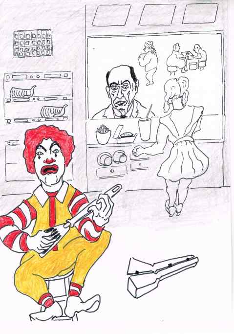 Ronald McDonald is grounded ahead of a creepy Hallowe'en.