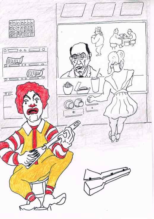 Ronald McDonald is grounded ahead of a creepy Hallowe'en.